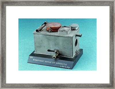 Rowbotham Endotracheal Apparatus Framed Print by Science Photo Library
