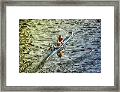 Rowing Crew Framed Print by Bill Cannon
