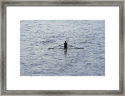 Rowing Framed Print by Juergen Roth
