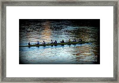 Rowing On The River Framed Print by Susan Garren