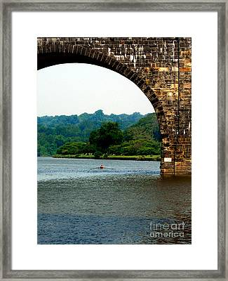 Rowing The Schuylkill Framed Print by Skip Willits