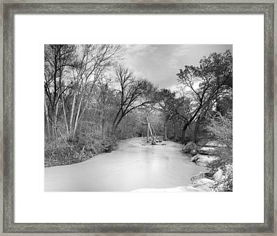 Rowlett Creek Framed Print by Darryl Dalton