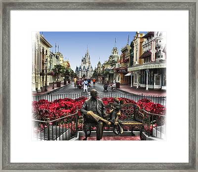 Roy And Minnie Mouse Walt Disney World Framed Print by Thomas Woolworth