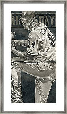 Roy Halladay Framed Print by David Courson