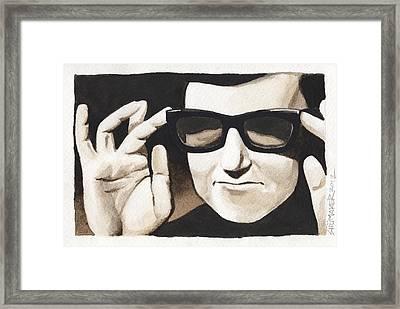 Roy Orbison Framed Print by David Shumate
