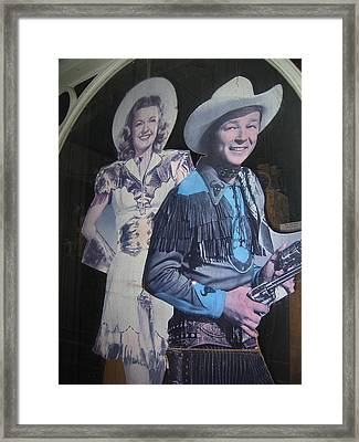 Roy Rogers And Dale Evans #2 Cut-outs Tombstone Arizona 2004 Framed Print by David Lee Guss