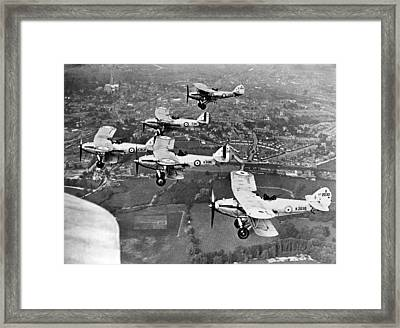Royal Air Force Formation Framed Print by Underwood Archives