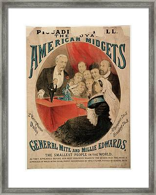 Royal American Midgets At The Piccadilly Framed Print by British Library