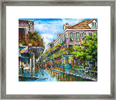 Royal At Pere Antoine Alley Framed Print by Dianne Parks