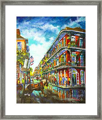 Royal Carriage - New Orleans French Quarter Framed Print by Dianne Parks
