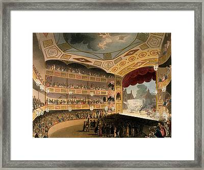 Royal Circus From Ackermanns Repository Framed Print by T. & Pugin, A.C. Rowlandson