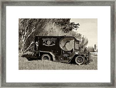 Royal City Paddy Wagon Sepia Framed Print by Steve Harrington