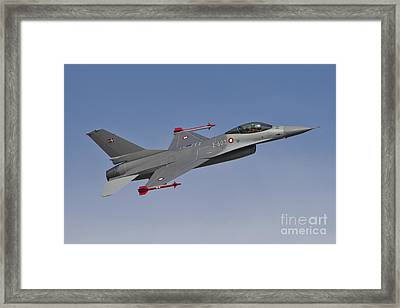 Royal Danish Air Force F-16a Fighting Framed Print by Timm Ziegenthaler
