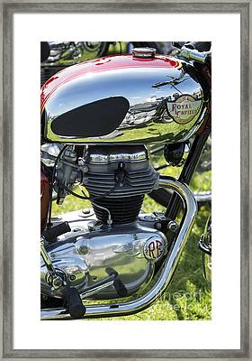 Royal Enfield Motorcycle Framed Print by Tim Gainey