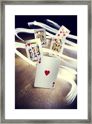 Royal Flush Framed Print by Samuel Whitton
