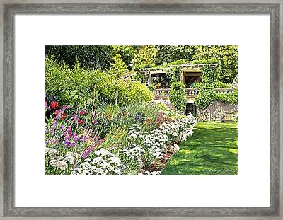 Royal Garden Framed Print by David Lloyd Glover