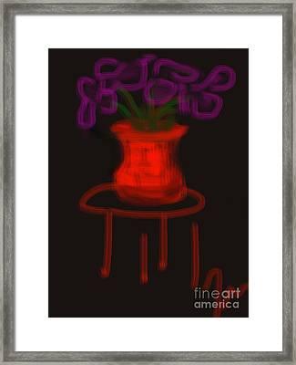 Royal Irises Framed Print by James Eye