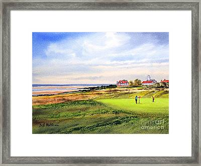 Royal Liverpool Golf Course Hoylake Framed Print by Bill Holkham