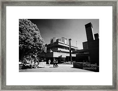 Royal National Theatre South Bank London England Uk Framed Print by Joe Fox