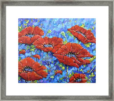 Royal Poppies By Prankearts Framed Print by Richard T Pranke