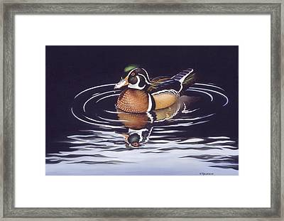 Royal Reflections Framed Print by Richard De Wolfe