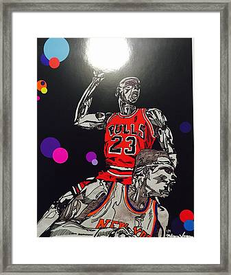 Royal Skies Flyer Framed Print by Nelson Vargas