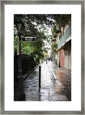 Royal Street Reflections Framed Print by Chris Moore