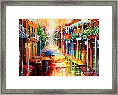 Royal Street Reflections Framed Print by Diane Millsap