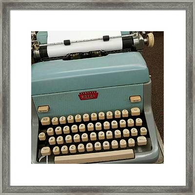 Royal Typewriter Framed Print by Fetching Sights Photography