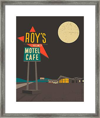 Roys Cafe Framed Print by Jazzberry Blue