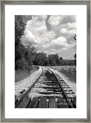 Rr X-ing Framed Print by Robert Frederick