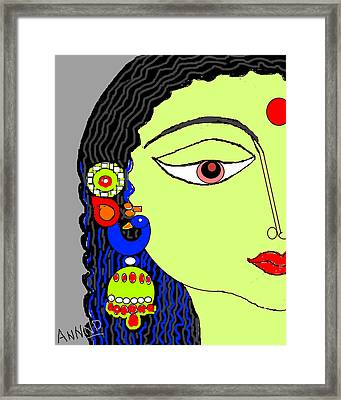 Rradha With Ornaments-12 Framed Print by Anand Swaroop Manchiraju