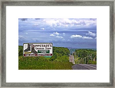 Rt 30 Duppstadt's Country Store Sign Framed Print by Tom Gari Gallery-Three-Photography