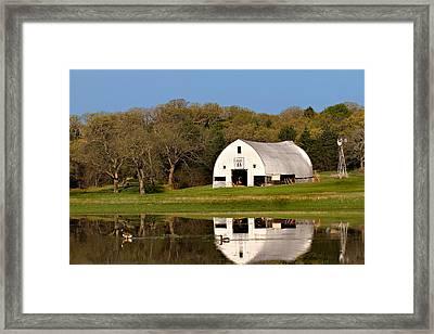 Rt 66 Hay Farm Oklahoma Framed Print by T Lowry Wilson