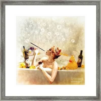 Rubadubdub Framed Print by Spokenin RED