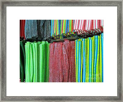 Rubber Candy  Framed Print by Noa Yerushalmi