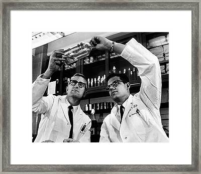 Rubella Vaccine Research Framed Print by National Library Of Medicine