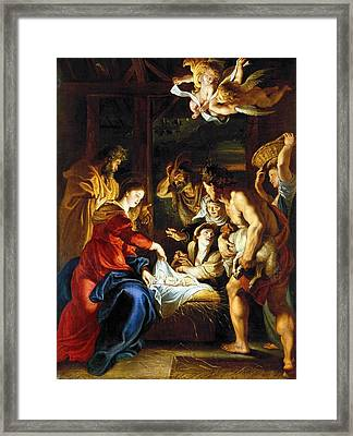 Rubens Adoration Framed Print by Granger