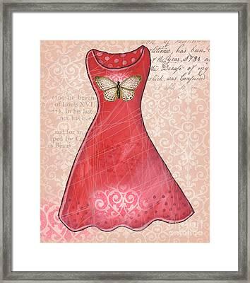 Ruby Dress Framed Print by Elaine Jackson