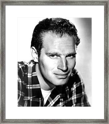 Ruby Gentry, Charlton Heston, 1952, Tm Framed Print by Everett