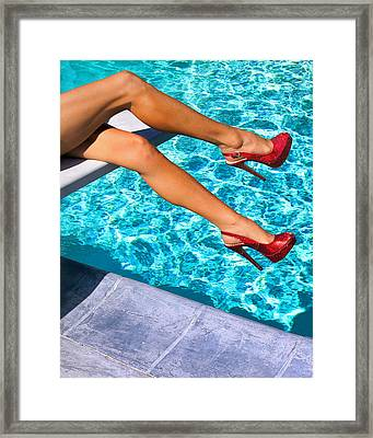Ruby Heels Not In Kansas Palm Springs Framed Print by William Dey
