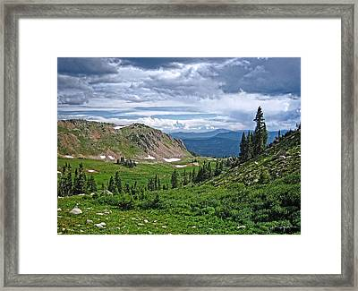 Ruby Jewel Valley Framed Print by Julie Magers Soulen