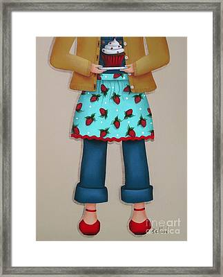 Ruby's Red Shoes Framed Print by Catherine Holman