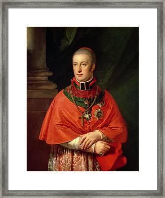 Rudolf Of Habsburg, Archduke Of Austria 1788-1831, Youngest Son Of Leopold II 1747-93, In Cardinals Framed Print by Johann Baptist Edler von Lampi