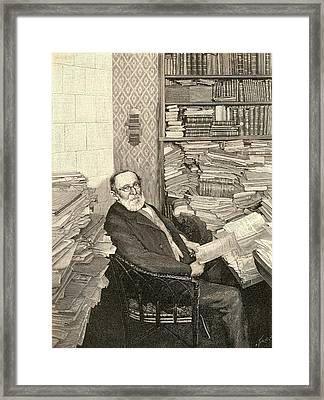 Rudolph Virchow Framed Print by Universal History Archive/uig