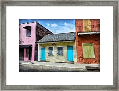 Rue Burgundy Framed Print by Bill Cannon