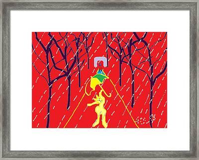 Rue De Pluie Framed Print by Anita Dale Livaditis