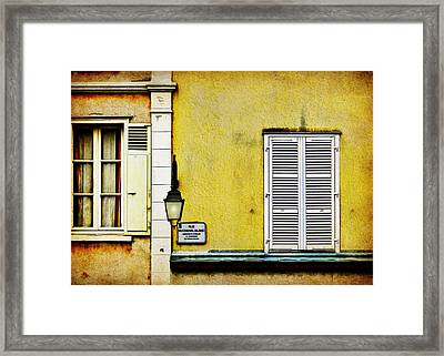 Rue Du Cheval Blanc Framed Print by Nikolyn McDonald