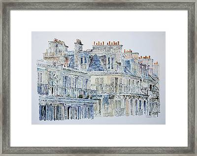 Rue Du Rivoli Paris Framed Print by Anthony Butera
