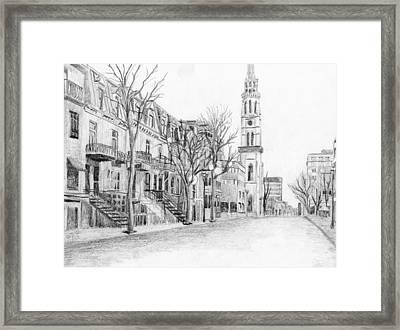 Rue St-denis Framed Print by Duane Gordon